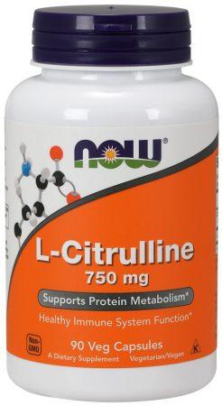 now L-Citrulline 750 mg 90 Veg Caps.