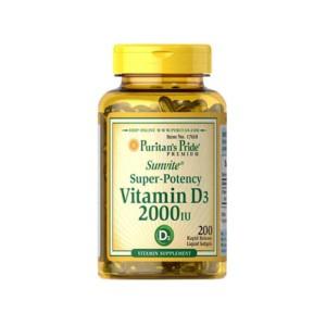 Puritans Pride Vitamin D3 2000iu   200 softgels