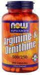 now arginine-ornithine 500/250 100 caps.